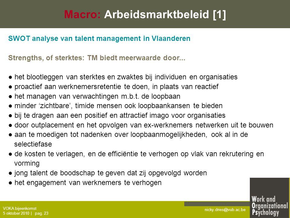 Macro: Arbeidsmarktbeleid [1]